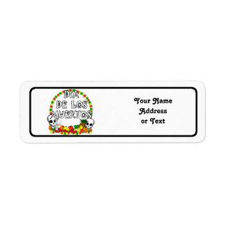 Dia De Los Muertos Étiquettes D'adresse Retour