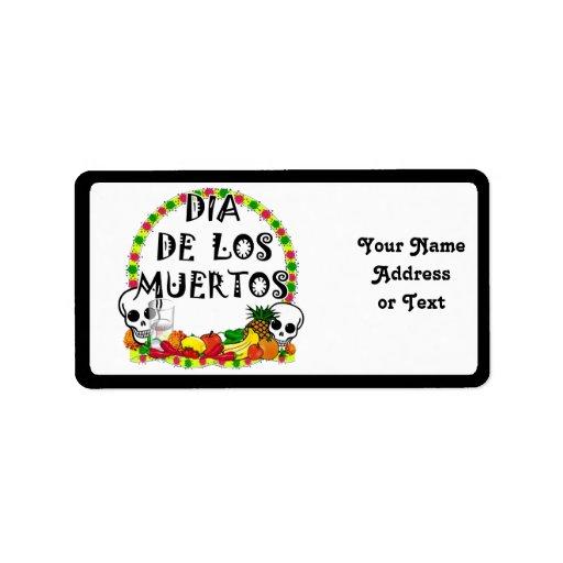Dia De Los Muertos Étiquettes D'adresse
