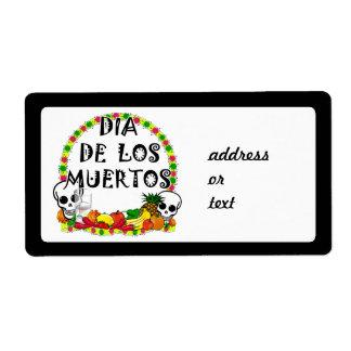 Dia De Los Muertos Étiquettes D'expédition