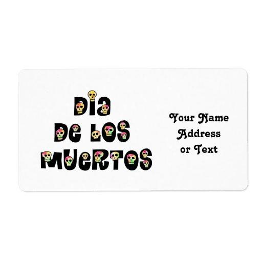 Dia De Los Muertos Calaveras Étiquette D'expédition