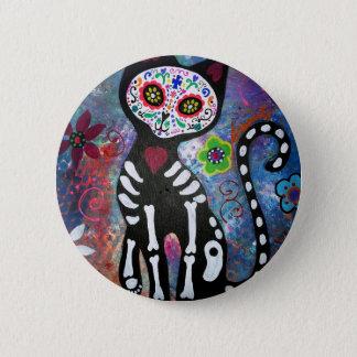 Dia de los Muertos Cat 2 Inch Round Button