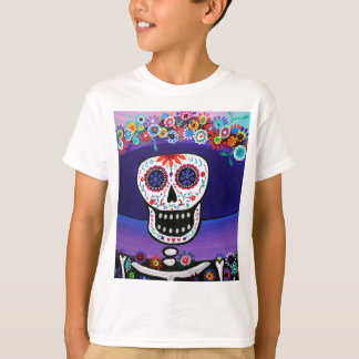 Dia de los Muertos Catrina by Prisarts T-Shirt