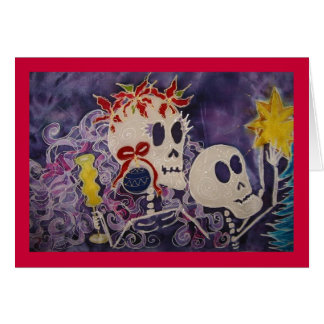 Dia de los Muertos Christmas Poins... - Customized Card