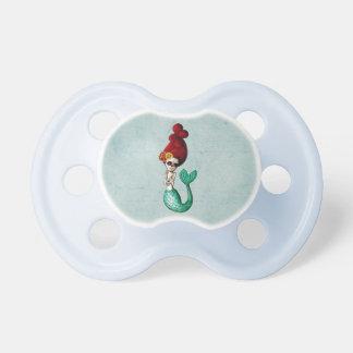 Dia de Los Muertos Cute Mermaid Catrina Baby Pacifier