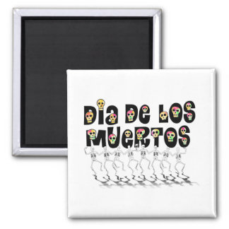 Dia De Los Muertos - Dancing Skeletons Refrigerator Magnet
