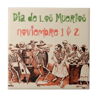 Dia de Los Muertos Day of the Dead Noviembre Tile
