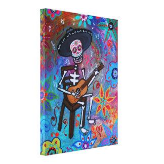 Dia de los Muertos Gitarero Canvas Print