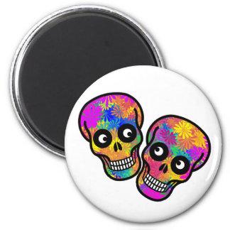 Dia De Los Muertos Happy Couple Refrigerator Magnet