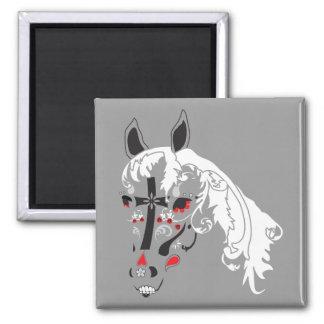 dia de los muertos horse refrigerator magnets