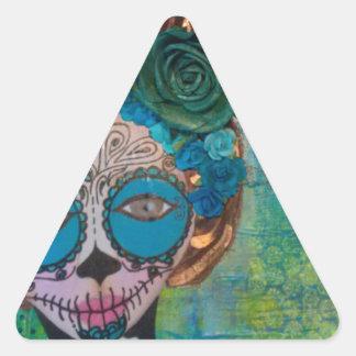 dia de los muertos.jpg triangle sticker