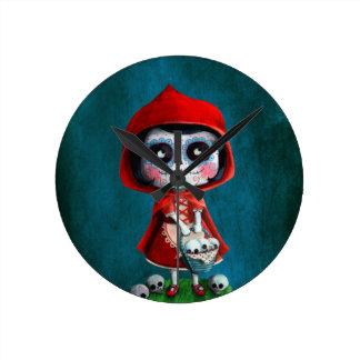 Dia de los Muertos Little Red Riding Hood Clocks