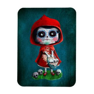 Dia de los Muertos Little Red Riding Hood Flexible Magnet