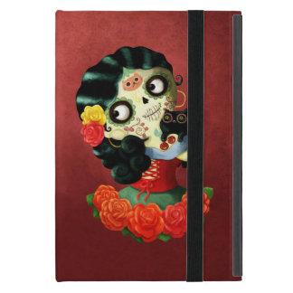 Dia de Los Muertos Lovely Mexican Catrina Girl Covers For iPad Mini