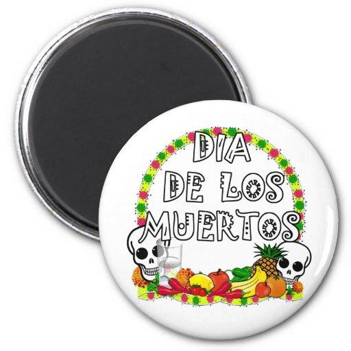 Dia De Los Muertos Magnets