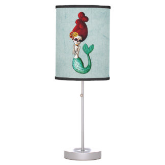 Dia de Los Muertos Mermaid Table Lamp