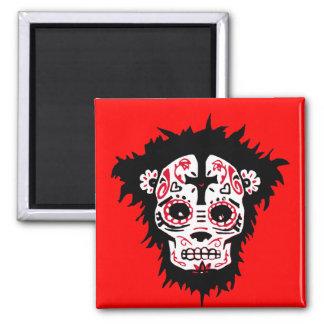dia de los muertos monkey refrigerator magnets