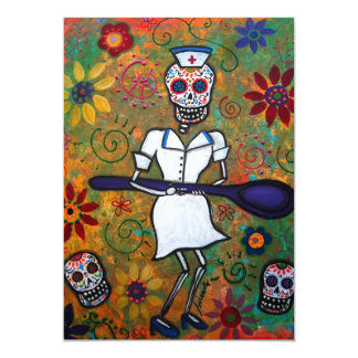 DIA DE LOS MUERTOS NURSE - Customized Card