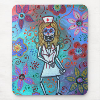 Dia de los Muertos  Nurse II Painting Mouse Pad
