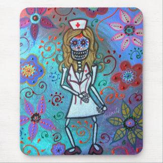 Dia de los Muertos Nurse RN Mouse Pad