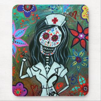 Dia de los Muertos Nurse RN painting Mouse Pad