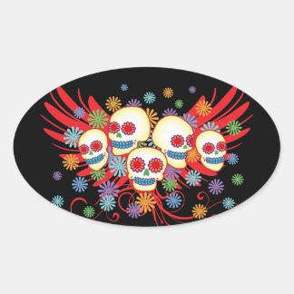 Dia de los Muertos Oval Sticker
