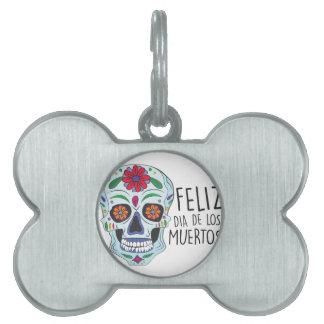 Dia De Los Muertos Pet ID Tag
