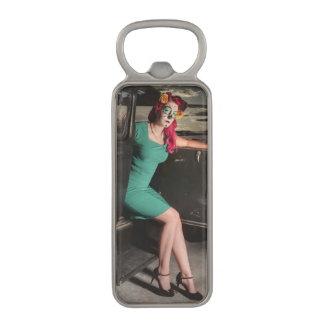 Dia de los Muertos Pin Up Girl Day of the Dead Magnetic Bottle Opener