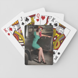 Dia de los Muertos Pin Up Girl Day of the Dead Playing Cards