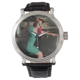 Dia de los Muertos Pin Up Girl Day of the Dead Watch