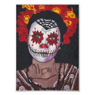 Dia De Los Muertos Red Lady Photo Print