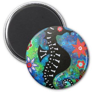 Dia de los Muertos Seahorse Refrigerator Magnet