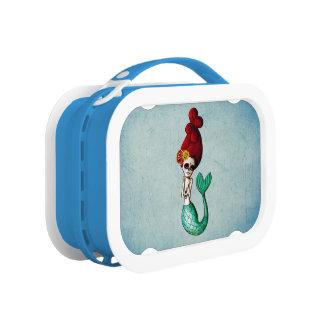 Dia de Los Muertos Shy Mermaid Lunch Box