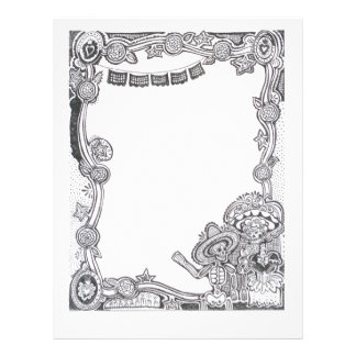 Dia De Los Muertos Skeleton Frame - Letterhead