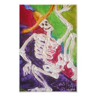Dia De Los Muertos Skeleton Halloween Art Poster Photo Art