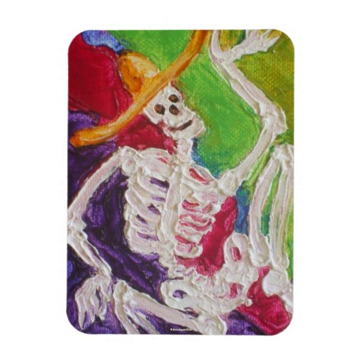 Dia De Los Muertos Skeleton Hallowen Magnet