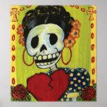 dia de los muertos skeleton lady print