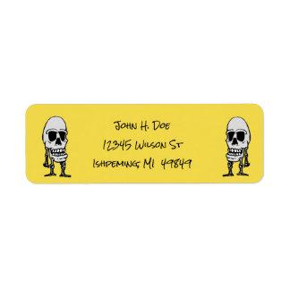Dia de Los Muertos Skeleton Return Address Labels