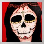 Dia de los Muertos Skeletons Jesus Print