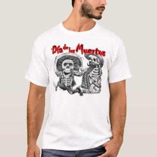 Dia de los Muertos, Skeletons with machete & booze T-Shirt