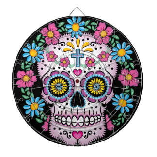 Dia de los Muertos Skull Dart Boards