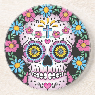 Dia de los Muertos Skull Drink Coaster