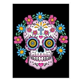 Dia de los Muertos Skull Postcard