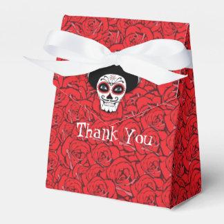 Dia De Los Muertos Skull Thank You Favor Box