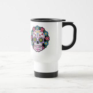 Dia de los Muertos Skull Travel Mug