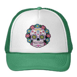 Dia de los Muertos Skull Trucker Hat