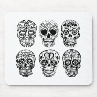 Dia de los Muertos Skulls (Day of the Dead) Mouse Pad