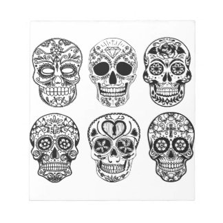 Dia de los Muertos Skulls (Day of the Dead) Notepad