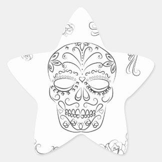 Dia de los muertos star sticker