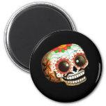 Dia de Los Muertos Sugar Skull Art 2 Inch Round Magnet
