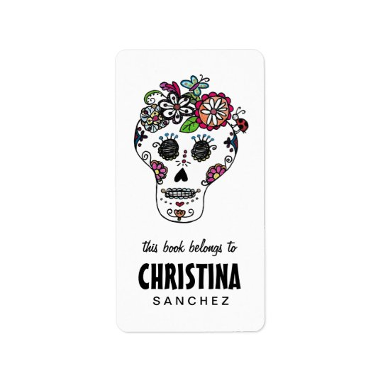 Dia de Los Muertos, Sugar Skull, Bookplates